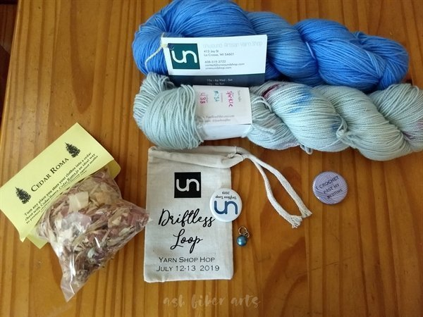 Driftless shop hop - Unwound Artisan Yarn shop purchase 2019 - yarn stash acquisition