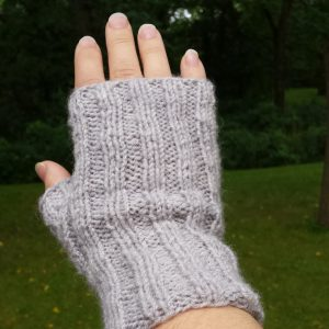 Ribbed Fingerless Mitts