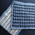 New pattern release: Spike Stripe Washcloth (crochet)