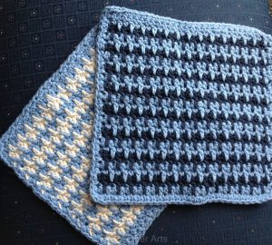 Read more about the article New pattern release: Spike Stripe Washcloth (crochet)